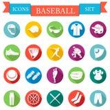 Set of  icons flat about baseball Royalty Free Stock Photo