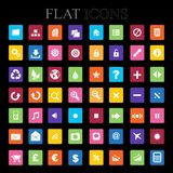 Set of  icons. Flat Design. Stock Photography