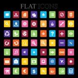 Set of  icons. Flat Design. Stock Photography