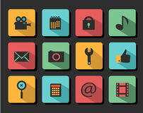 Set icons flat design Royalty Free Stock Images