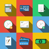 Set of icons in a flat style Stock Photos