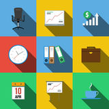 Set of icons in a flat style Royalty Free Stock Images