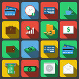 Set of icons in a flat style Stock Photo