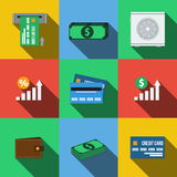 Set of icons in a flat style Stock Images