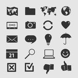 Set of icons Stock Photo