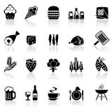 Set icons food Stock Image