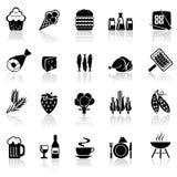 Set icons food Stock Image