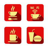 Set of icons with food Royalty Free Stock Images