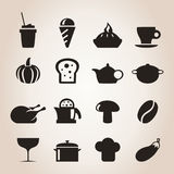 Meal icons7 Stock Images