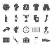 Set of  icons football Royalty Free Stock Image