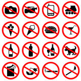 Set of icons forbidding Royalty Free Stock Photo
