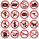 Set of icons forbidding Royalty Free Stock Photo