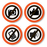 Set of icons forbidding Stock Photography