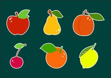 Set of icons fruit Royalty Free Stock Image