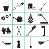 Set  Icons of Garden Tools. Royalty Free Stock Photos