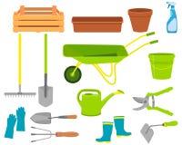 Set of icons garden tools Stock Photos