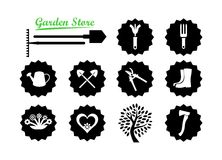 Set of Icons for Garden Website Royalty Free Stock Photography