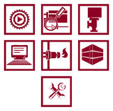 Set of icons. Gas and energy industry Stock Photo