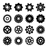 Set icons of gears. Isolated on white stock illustration