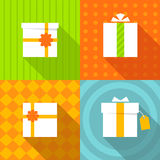 Set of icons gift box Royalty Free Stock Photography