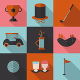 Set  icons  Golf. Stock Photo