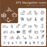Set of icons for gps and navigation stock illustration
