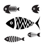 Set of icons of fish Royalty Free Stock Images