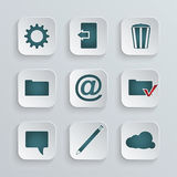 Set of icons Royalty Free Stock Image