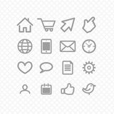 Set icons Royalty Free Stock Images