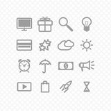 Set icons Stock Photo