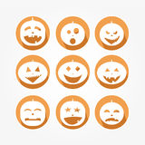 Set of icons - Halloween Royalty Free Stock Images