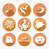 Set of icons - Halloween Stock Photography