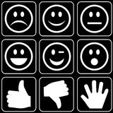 Set of icons (hands, smiles) Royalty Free Stock Photography