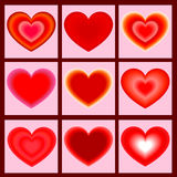 Set of icons heart. Vector illustration Royalty Free Stock Photo