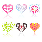 Set of icons hearts Stock Photography