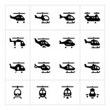 Set icons of helicopters Royalty Free Stock Photos