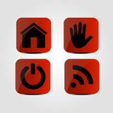 Set of icons - Home, Hand, Wi-fi and Power icons. Vector Royalty Free Stock Image