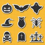 Set of icons in horror style for Halloween. Design for the poster, banner, web pages, mobile applications. Stickers. Vector illustration Stock Photo