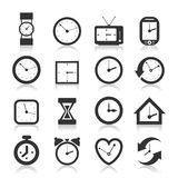 Hours an icon Royalty Free Stock Images