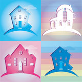 Set of icons houses. Vector illustration Royalty Free Stock Image