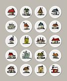 Set of icons with houses for your design Stock Photo