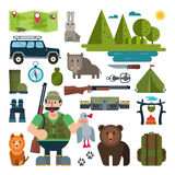 Set of icons for hunting Stock Image
