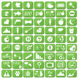 Set of icons, illustrations and logos on the theme of ecology Royalty Free Stock Photography