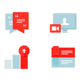 Set icons Royalty Free Stock Photo