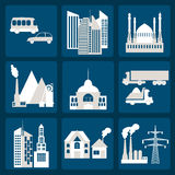 Set of icons infrastructure city. Vector illustration Stock Photo