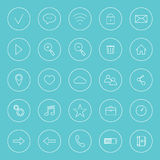 Set of icons for internet, Stock Image