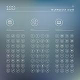 Set of icons for internet, media and technology Royalty Free Stock Photography