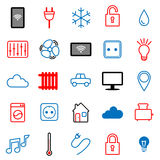 Set of 25 icons. Internet of things. Royalty Free Stock Photo