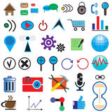 Set of 35 icons on the Internet Royalty Free Stock Photography
