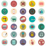 Set of 30 icons about the Internet. On white background Royalty Free Stock Images